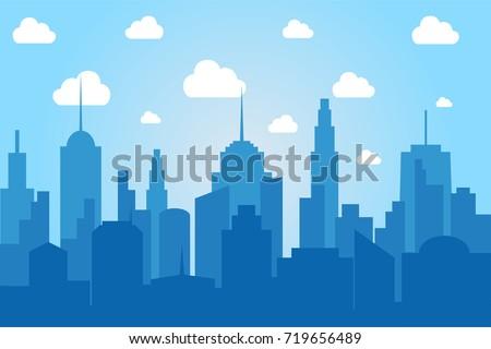 comic cityscape light