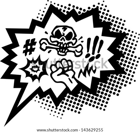 Comic Curses, Speech Bubble, Balloon - 2 Colors - Vector Image