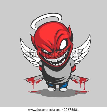 comic demon illustration