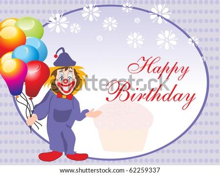 Comic Design Card For Happy Birthday Celebration Stock