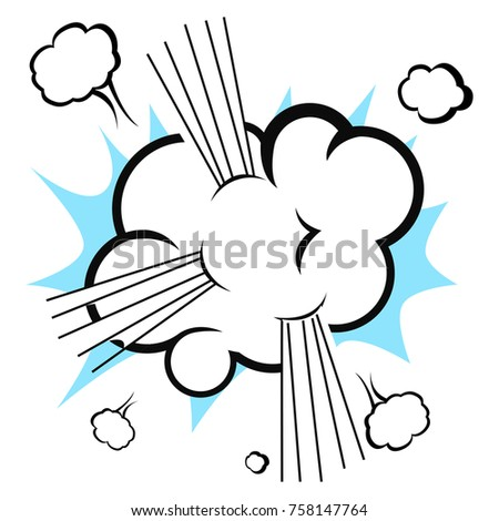 comic explosion cloud isolated