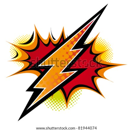 Comic flash. Vector