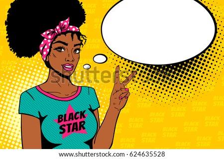 comic girl sexy african