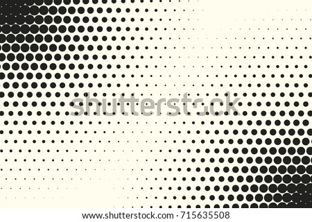 Comic halftone background. Vector retro dotted template for labels. White and black geometric gradient for pop art designs. Vintage backdrop with isolated pattern for cartoon book.