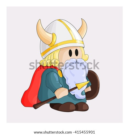 comic little dwarf dressed as a