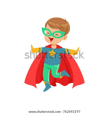 comic little kid in colorful