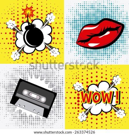 comic pop art colorful design