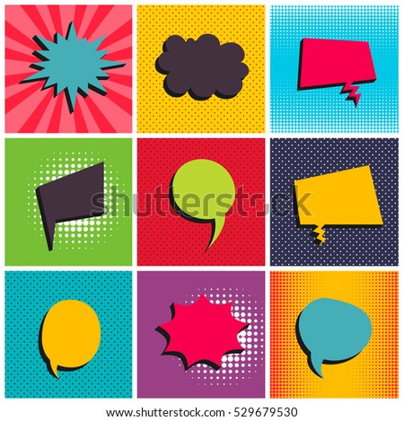 comic set background pop art
