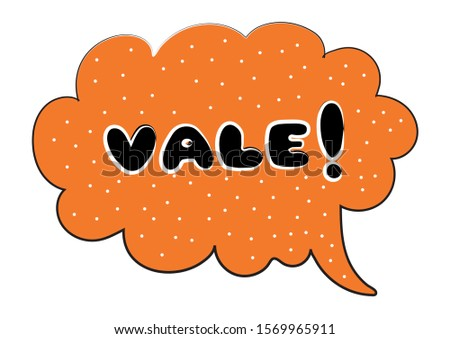 Comic Shape. Vale. Orange Comic Shape