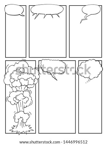 comic sketchbook page vector illustration