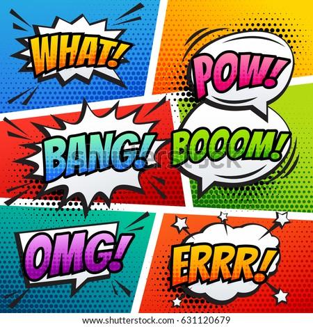 comic sound effect speech