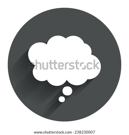 comic speech bubble sign icon
