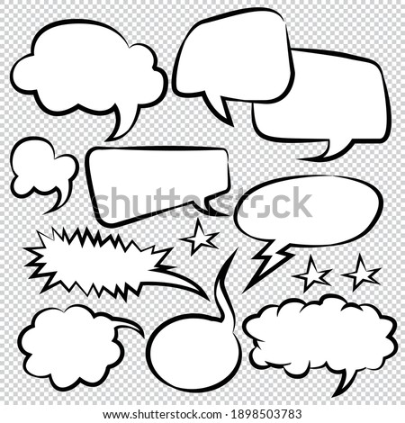 Comic Speech Bubbles Icons Collection color background Vector illustration Photo stock ©