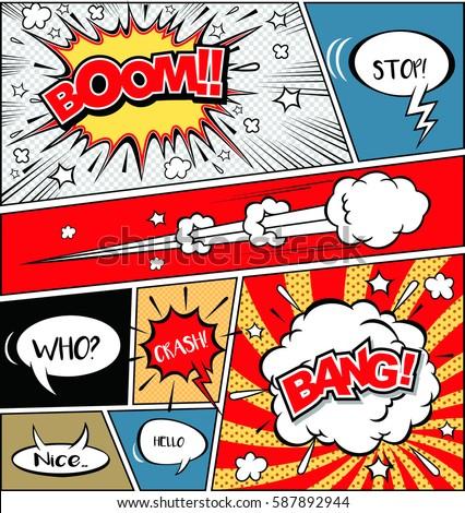 comic speech bubbles on a comic