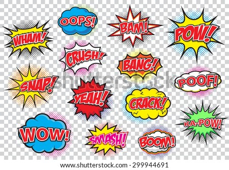 comic speech bubbles set  comic