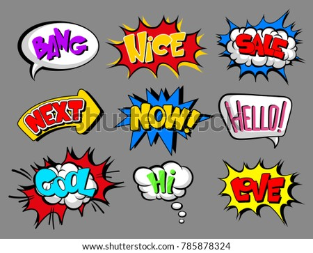 comic speech bubbles with text
