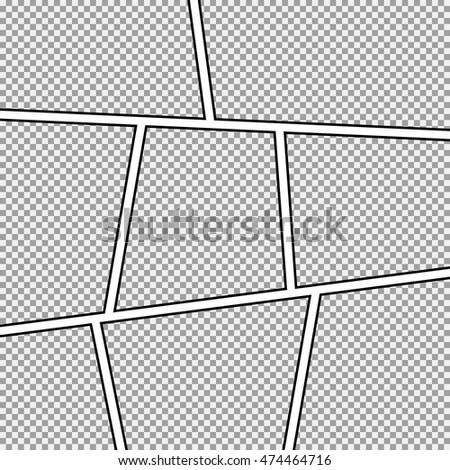 vector images illustrations and cliparts comic strip background frame different panels. Black Bedroom Furniture Sets. Home Design Ideas