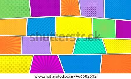 comic strip background with 16