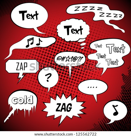 Comic Style Speech Bubbles Collection/Set | Vector