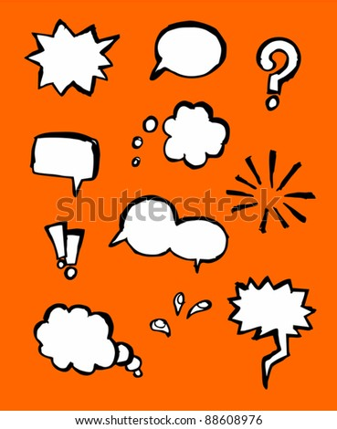 Comic symbols collection - stock vector