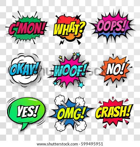 comic text speech bubbles