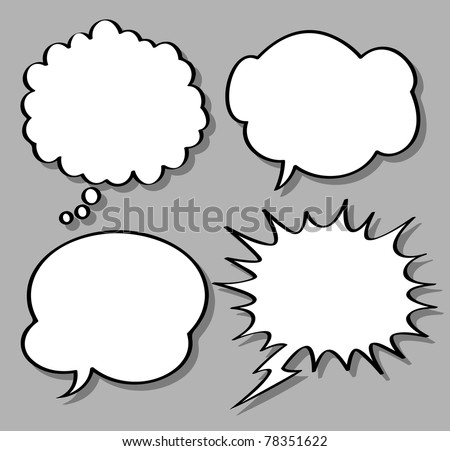 comical bubble speech