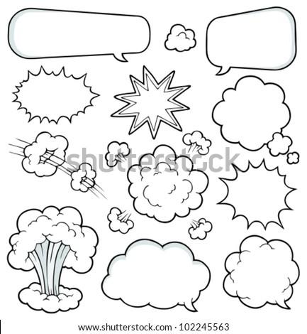Comics elements collection 2 - vector illustration.