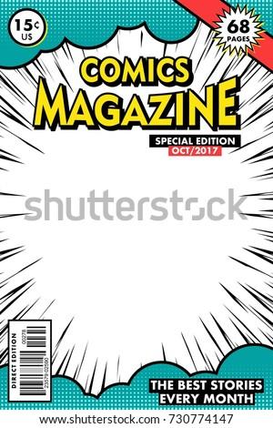 Comics magazine. Vector art