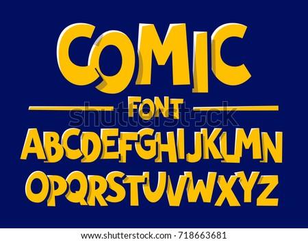 comics style font vector