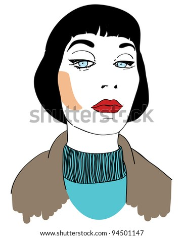 Comics-Style Woman With Haughty Look Stock Vector ...