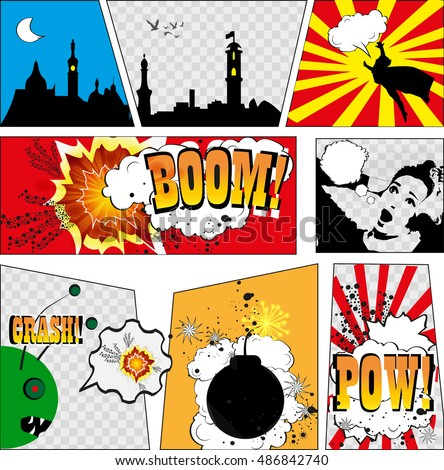 comics template vector
