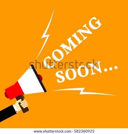 coming soon cartoon vector with