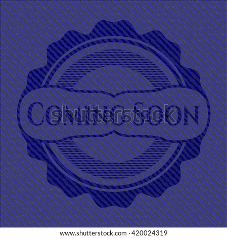 Coming Soon emblem with jean high quality background