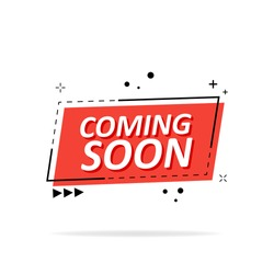 Coming soon label, sign, icon. Vector illustration.