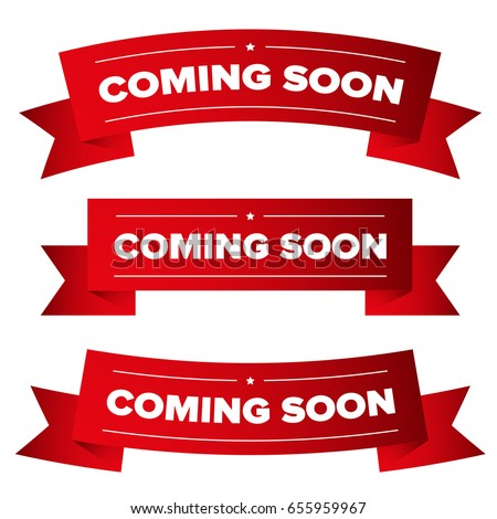 Coming Soon red ribbon