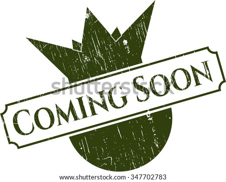Coming Soon rubber grunge texture seal