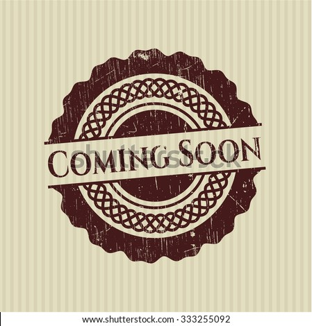 Coming Soon rubber grunge texture stamp