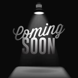Coming soon, sale poster, vector  image