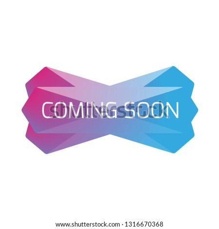 Coming Soon web banner low poly
