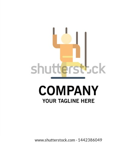 Command, Control, Human, Manipulate, Manipulation Business Logo Template. Flat Color