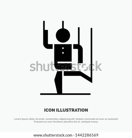 Command, Control, Human, Manipulate, Manipulation solid Glyph Icon vector
