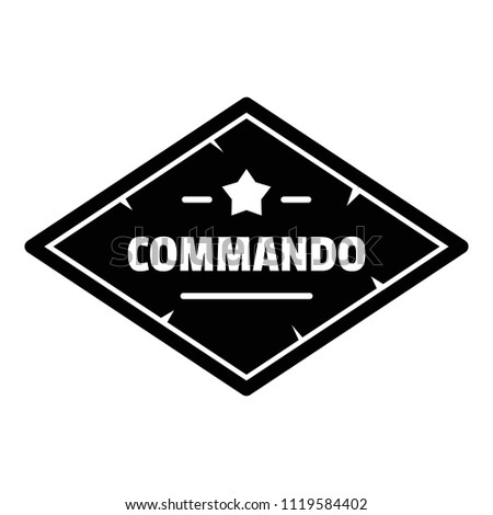 Commando troop logo. Simple illustration of commando troop vector logo for web design isolated on white background
