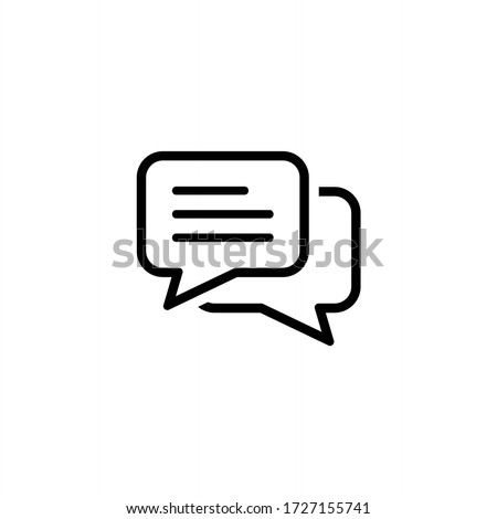 Comment icon vector. Conversation, Dialog icon symbol isolated