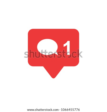 Comment icon vector. social media Comment vector icon. Social network icon Comment. Notification Icon.