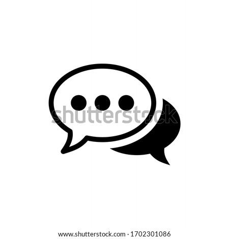 Comment icon vector. Speech bubble icon symbol