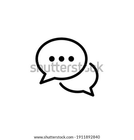 Comment icon vector. Speech bubble icon symbol. Conversation line icon in trendy flat design