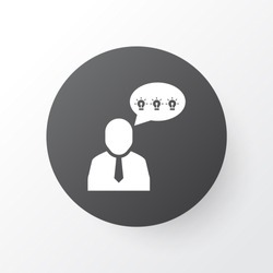 Comments icon symbol. Premium quality isolated brilliant idea element in trendy style.
