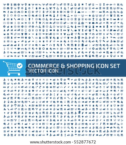 Commerce and shopping icon set,clean vector
