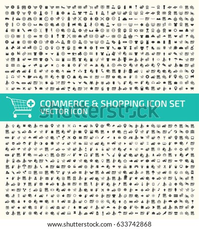Commerce and shopping icon set,clean vector #633742868