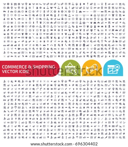 Commerce and shopping icon set,vector